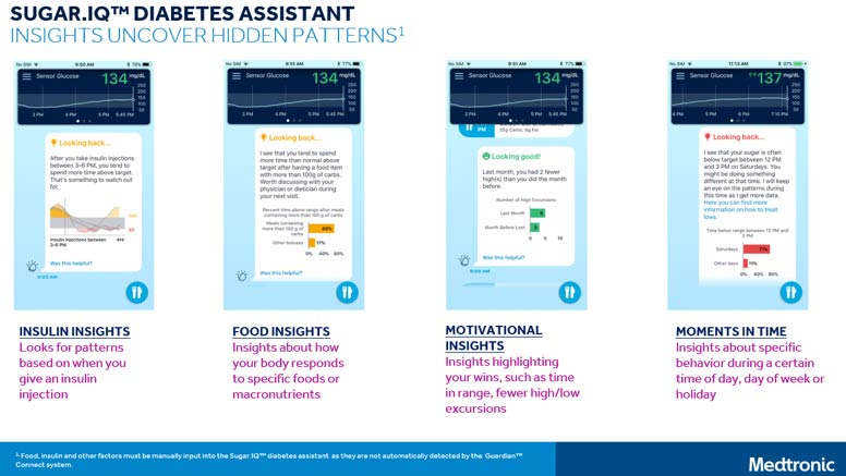 Guardian Connect CGM's Sugar IQ Diabetes Assistant App