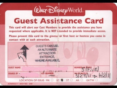 special assistance card