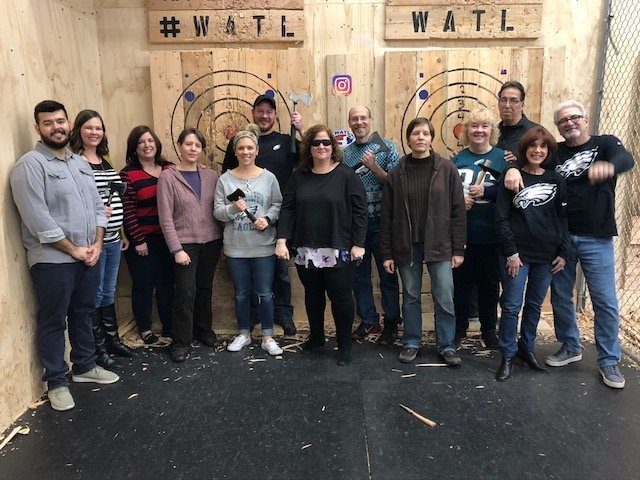 axe throwing group